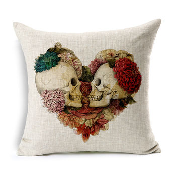 Halloween Mexican Sugar Skull Cushion No Inner Decorative Throw Pillow Sofa Home Decor Almofada