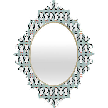 Allyson Johnson Penguin Pattern Baroque Mirror
