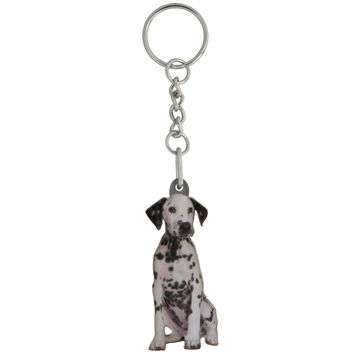 Dice the Dalmatian Puppy Mirrored Acrylic Keychain