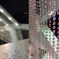 10M Garland Diamond Strand Acrylic Crystal Bead Curtains Wedding Decor