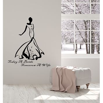 Vinyl Wall Decal Wife Quote Wedding Dress StudioToday A Bride Stickers (3834ig)