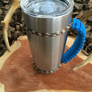 Cobalt Blue/Camo Paracord Yeti 20 oz. Rambler Handle Grip