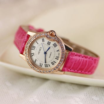 Comfortable Vintage Fashion Quartz Classic Watch Round Ladies Women Men wristwatch On Sales = 4662237700