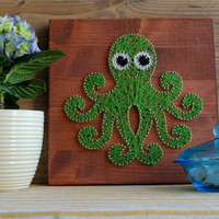 Octopus wall decor, art, for Kids room or Nursery