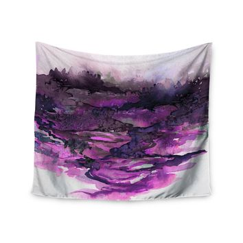 "Ebi Emporium ""The Long Road 5"" Purple Lavender Watercolor Wall Tapestry"