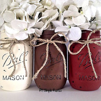 Mason jar home decor, housewares, thanksgiving decor, holiday decor, centerpiece, bathroom decor, bathroom accessories, housewarming