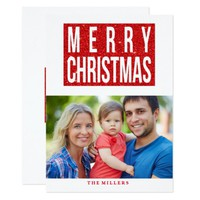 Sparkle Red, Merry Christmas Photo Card