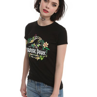 Jurassic Park Tropical Logo Girls T-Shirt