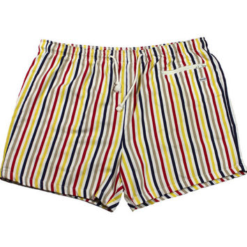 Vintage 90s Striped Swim Trunks Mens Size L/XL