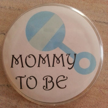 Mommy To Be Pin; Daddy To Be Pin; Baby Shower Pin; Gender Reveal Pin; Baby Shower Favors; Gender Reveal Favors - Rattle Background