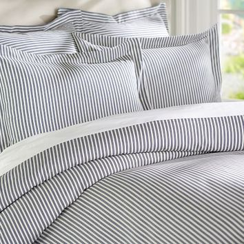 THATCHER TICKING STRIPE DUVET COVER & SHAM