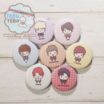 Bangtan Boys - DOPE kpop BTS badges, buttons pin