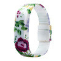 Fashion! Womens Mens Kid Floral Printed Bracelet Dress Watches Rubber LED Date s Digital Wrist Watch INY66