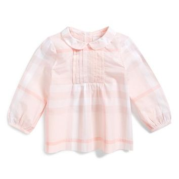 Toddler Girl's Burberry 'Sarai' Check Print Top,