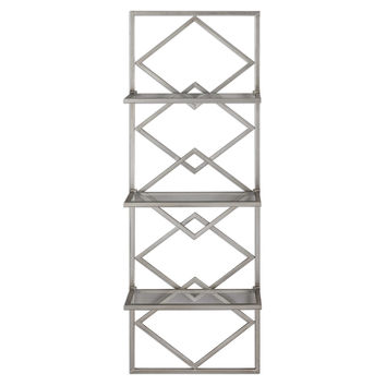 Uttermost Silvia Silver Wall Shelf