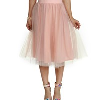 Peach Tulle Darling Party Skirt