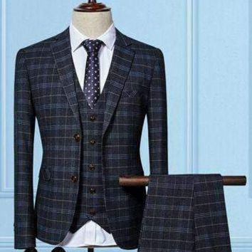 Mens Plaid Suit