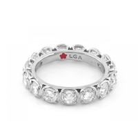 Rhodium eternity band with glamour by the yard design