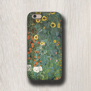 Gustav Klimt Sunflower iphone 6s case iPhone 5s case iPhone 4s case Samsung Galaxy S6 Edge Plus Samsung Galaxy S7 Galaxy Note 4 case floral