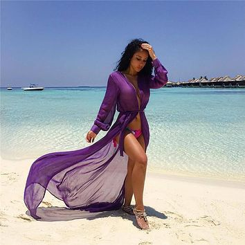 Stylish Women Chiffon Beach Dress Cover Up