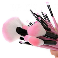 Makeup Brush Set| Pro Cosmetic-32pc Studio Pro Makeup Make Up Cosmetic Brush Set Kit w/ Leather Case - For Eye Shadow, Blush, Concealer, Etc. (Pink)