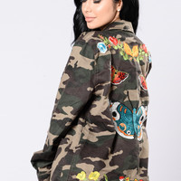 Butterfly Kisses Jacket - Army