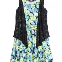 Fit & Flare Dress Vest 2fer