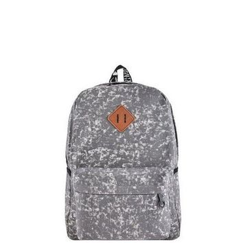 ESB78W Grey Acid Wash Backpack