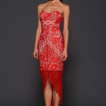 Elle Zeitoune Macey lace dress (red)