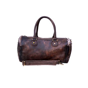 Women Washed Vintage Duffle Bag with Heavy Wash