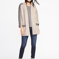 Jacquard Open-Front Cardi-Coat for Women | Old Navy