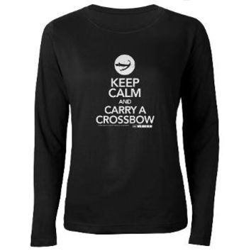 Keep Calm Carry a Crossbow Women's Long Sleeve Dar> Keep Calm Carry a Crossbow> The Walking Dead T-Shirts from Gold Label
