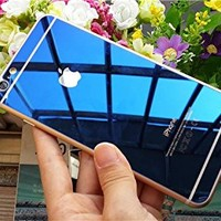 E-Life New Colorfull Mirror Effect Electroplanting Premium Real Tempered Glass F...