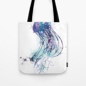 Jellyfish Tote Bag by monnprint