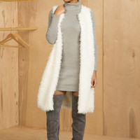 Fluffy Extended Vest (Off White)