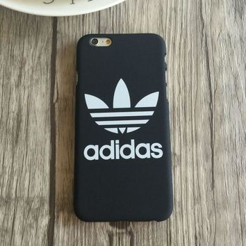 LMFDQ7 Trendy Adidas Print Black & White Iphone 5 5s SE 6 6s 6plus 6splus 7 7plus Cover Case