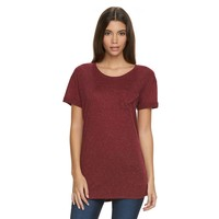 Juniors' Awake Relaxed-Pocket Boyfriend Tee