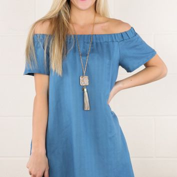Just A Thought Dress-Blue