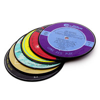 RECORD COASTERS | Recycled Vinyl LP Coasters | UncommonGoods