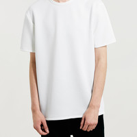 WHITE NEOPRENE T-SHIRT - New In- TOPMAN USA