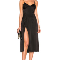 Michelle Mason Bustier Midi Dress in Black | FWRD
