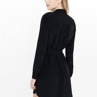 Black Military Shirt Dress from EXPRESS