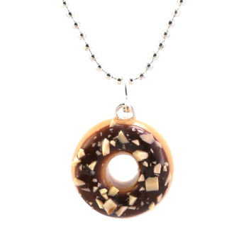 Scented Chocolate Nut Donut Necklace