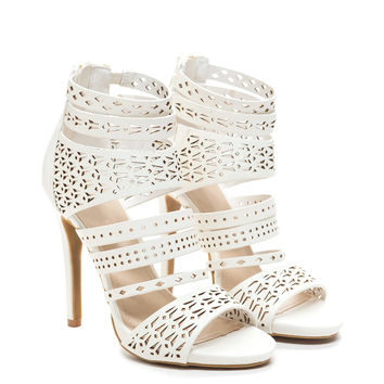 Strap It To U Laser Cut-Out Heels