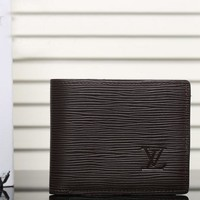Boys & Men Louis Vuitton Leather Print Purse Wallet