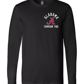 Official NCAA Venley University of Alabama Crimson Tide UA ROLL TIDE! Long Sleeve T-Shirt - 08AL-1