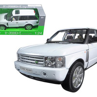 2003 Land Rover Range Rover White 1-24 Diecast Model Car by Welly