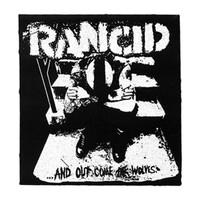 Rancid Men's Wolves Cloth Patch Black