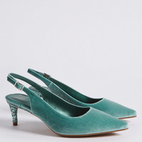 Kitten Heel Slingback Court Shoes | M&S Collection | M&S