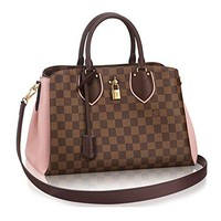 Louis Vuitton crossbody  handbag  Classic  Simple  Wanelo  ladies  fashion Best Seller formal Damier Canvas Normandy Tote Handbag Article: N41488 Magnolia France